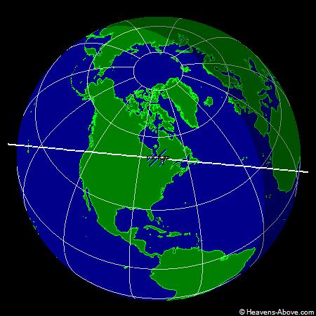国际空间站实时轨道位置图,国际太空站实时轨道位置图,ISS Current Orbit  轨道视角