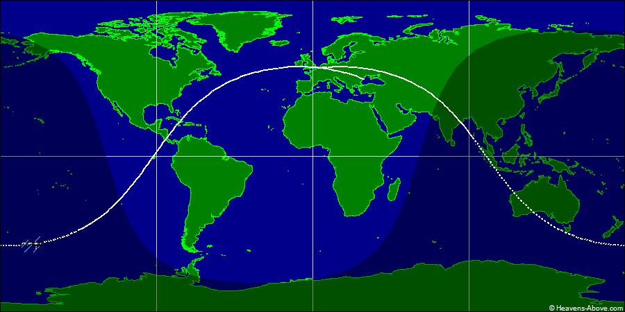 国际空间站实时轨道位置图,国际太空站实时轨道位置图,ISS Current Orbit  地面轨迹追踪